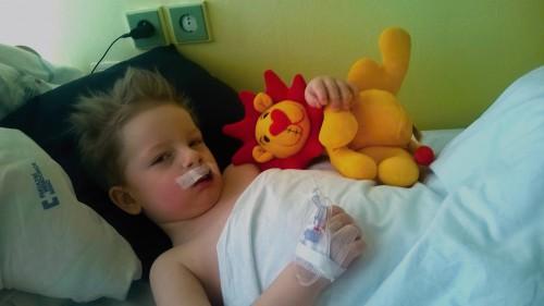 Plyšový maňásek Lippy do nemocnice