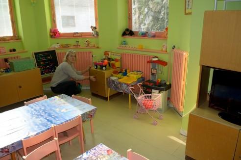 Herna na dětském oddělení, která by si jistě zasloužila modernizaci.