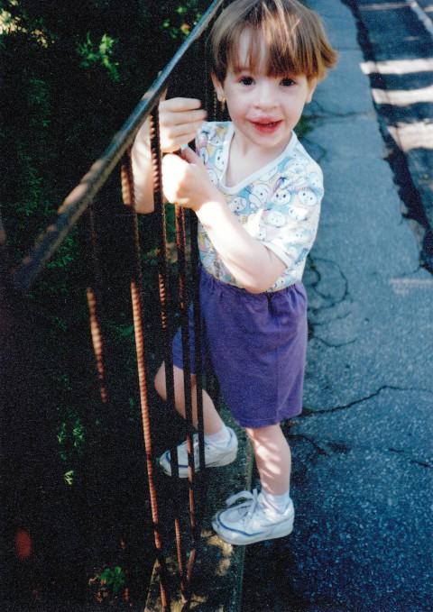 Katka jako malá holčička